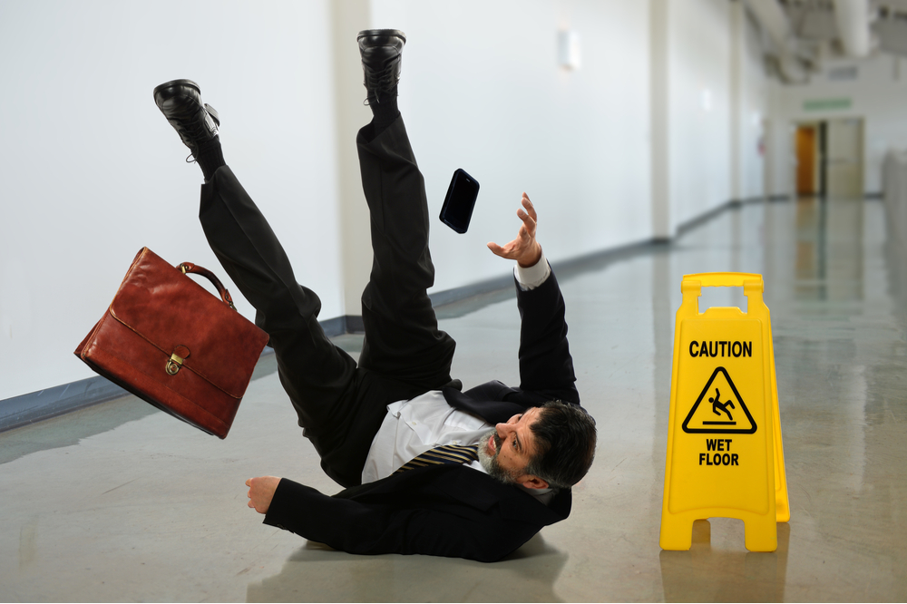 personal injury litigation sllip and fall accident